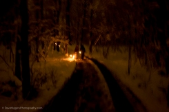 While I was sorry the dinner was over, the walk out was charming in the dark and snowy woods