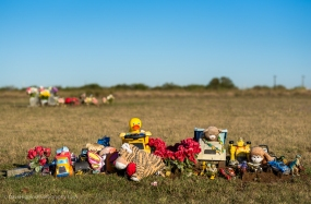 Toy-covered Grave - Texas