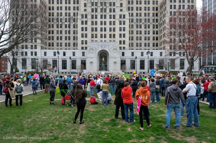 Some of the crowd in West Capitol Park