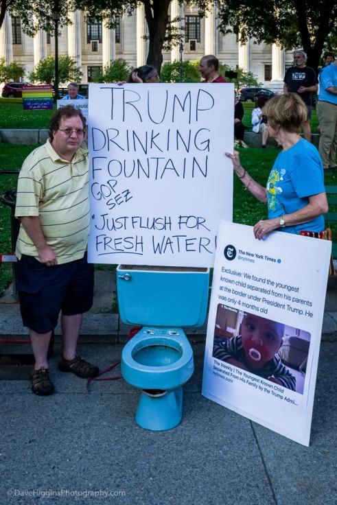 """Trump Drinking Fountain"""
