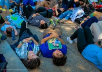 5-minute Die-In (Representing ultimate result of Climate Change)