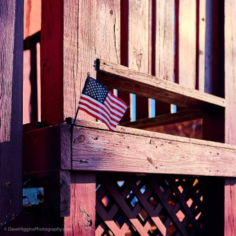 Small Flag On Porch